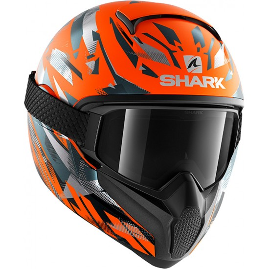 Shark Vancore 2 Kanhji Hi Vis Orange Anthracite Anthracite Full Face Helmet