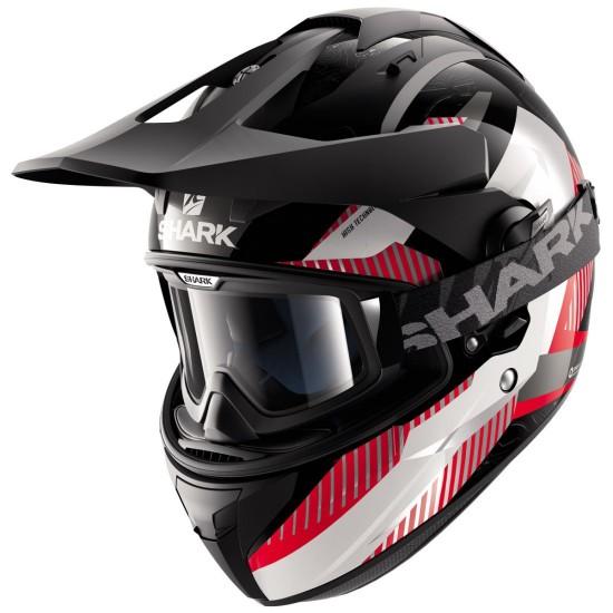Shark Explore-R Peka Black Red White Off Road Helmet