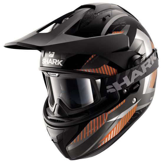 Shark Explore-R Peka Mat Black Anthracite Orange Off Road Helmet