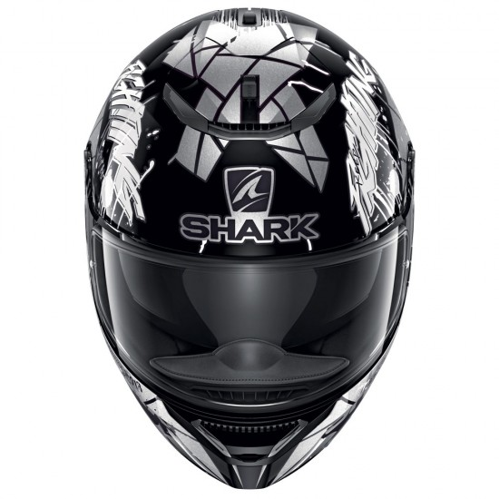 Shark Spartan Rep Lorenzo Catalunya GP 2018 Black White Glitter Full Face Helmet