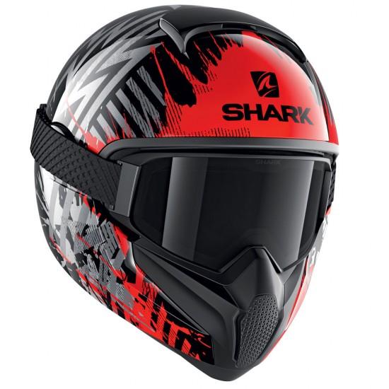 Shark Vancore 2 Overnight Black Red Silver Full Face Helmet