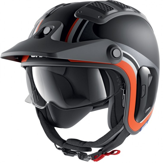 Shark X-DRAK 2 Hister Black Anthracite Orange Open Face Helmet