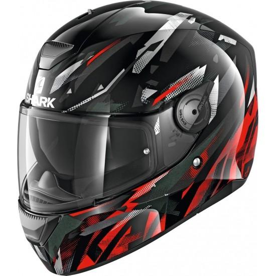 Shark D-Skwal Kanhji Black Red White Full Face Helmet