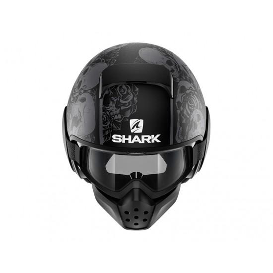 Shark Drak Sanctus Mat Black Anthra Open Face Helmet