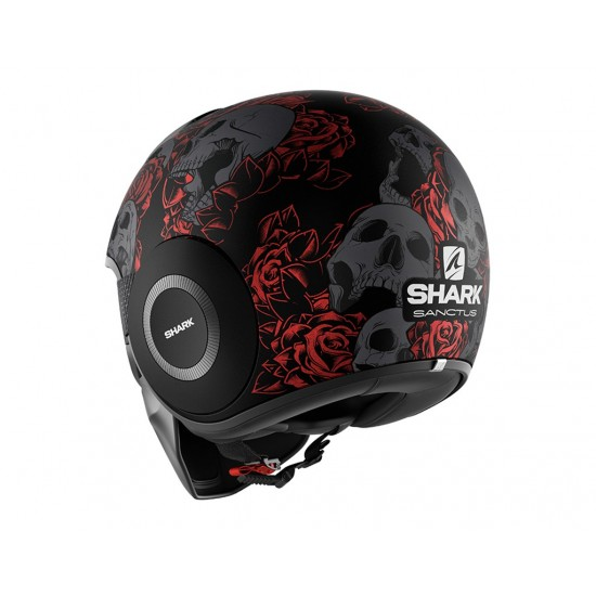 Shark Drak Sanctus Mat Black Red Anthracite Open Face Helmet