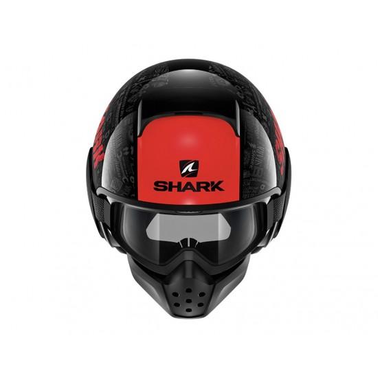 Shark Drak Tribute RM Black Red Anthracite Open Face Helmet