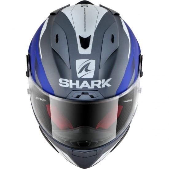 Shark Race-R Pro Sauer Anthracite White Blue Helmet