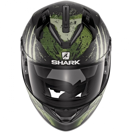 Shark Ridill Threezy Mat Black White Green Full Face Helmet