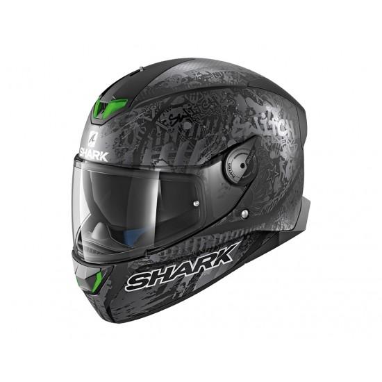 Shark Skwal 2 Switch Rider 2 Mat Black Anthrac Silver Full Face Helmet