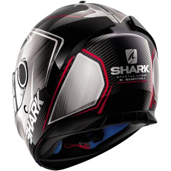 Shark Spartan Carbon Replica Guintoli Chrome Red Full Face Helmet