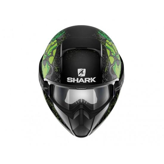 Shark Vancore Ashtan Mat Black Green Full Face Helmet