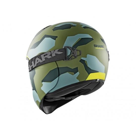 Shark Vancore Wipeout Mat Green Yellow Full Face Helmet