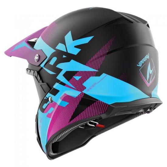 Shark Varial Anger Black Blue Purple Off Road Helmet