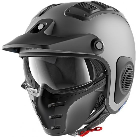 Shark X-Drak Blank Mat Anthracite Open Face Helmet