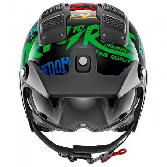 Shark X-Drak Freestyle Cup Black Blue Green Open Face Helmet