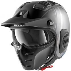 Shark X-Drak Terrence Mat Black Anthrac Silver Open Face Helmet