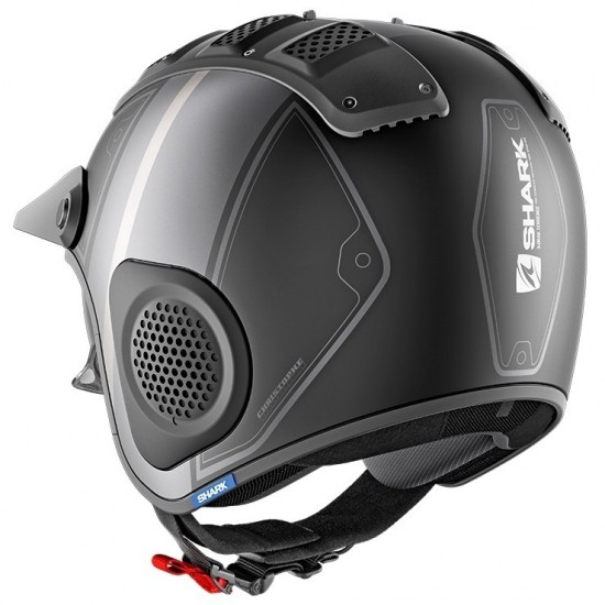 Shark X-Drak Terrence Mat Black Anthrac Silver Open Face Helmet