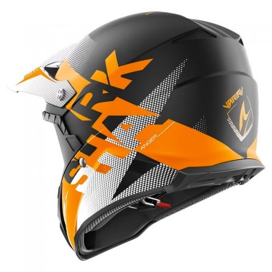 Shark Varial Anger Black Orange White Off Road Helmet