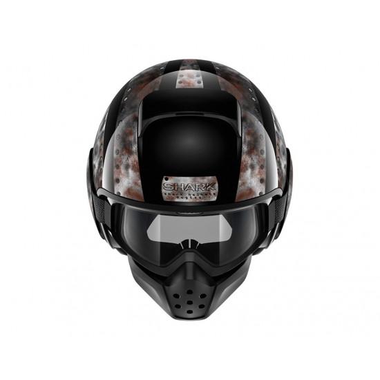 Shark Drak Dogtag Black Chrome Open Face Helmet