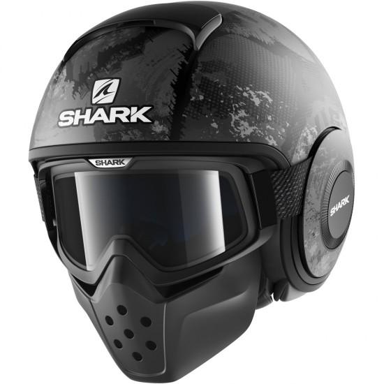 Shark Drak Evok Mat Black Anthra Open Face Helmet