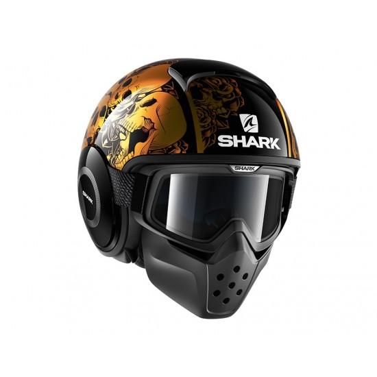 Shark Drak Sanctus Black Orange Open Face Helmet
