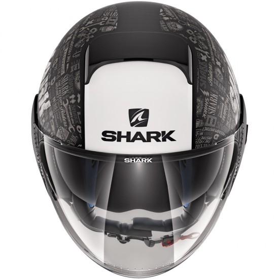 Shark Nano Tribute RM Black White Anthra Open Face Helmet
