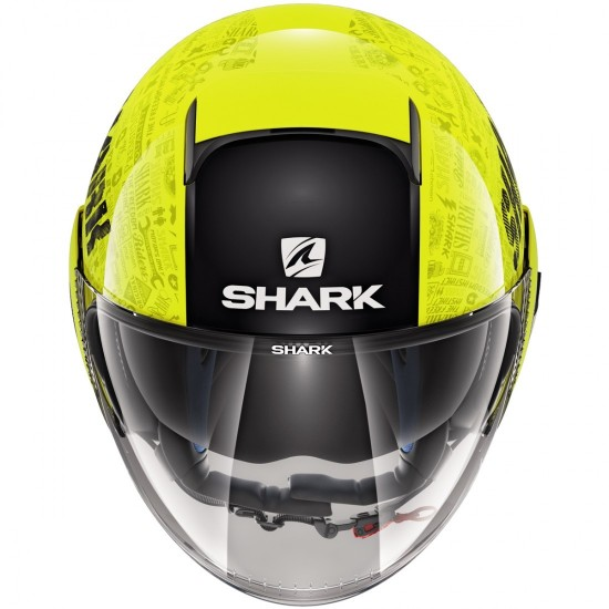 Shark Nano Tribute RM Yellow Black Anthracite Open Face Helmet