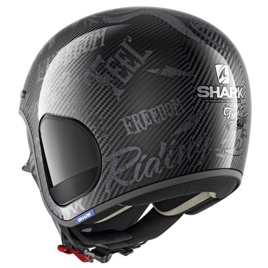 Shark S-Drak Freestyle Cup Carbon Anthracite Open Face Helmet