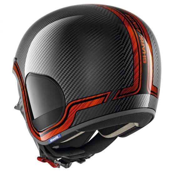 Shark S-Drak Vinta Carbon Chrome Orange Open Face Helmet