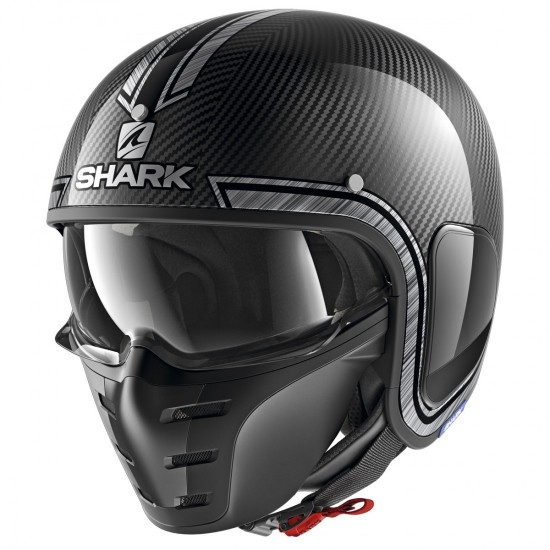Shark S-Drak Vinta Carbon Chrome Silver Open Face Helmet
