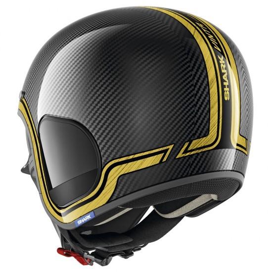 Shark S-Drak Vinta Carbon Chrome Gold Open Face Helmet