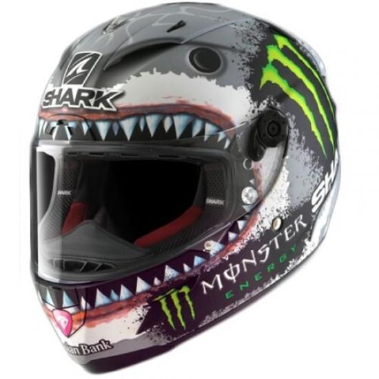 Shark Jorge Lorenzo Monster Energy White Full Face Helmet