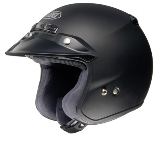 Shoei RJ Platinum-R Matt Black Open Face Helmet
