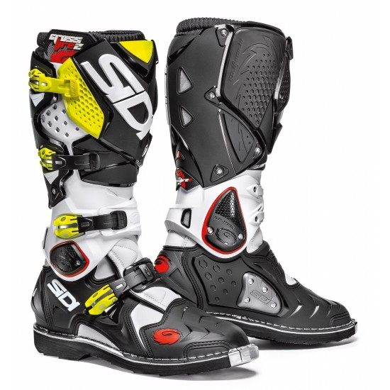 SIDI Crossfire 2 Offroad Boots - White Black Yellow