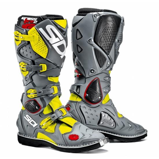 SIDI Crossfire 2 Offroad Boots - Yellow Grey