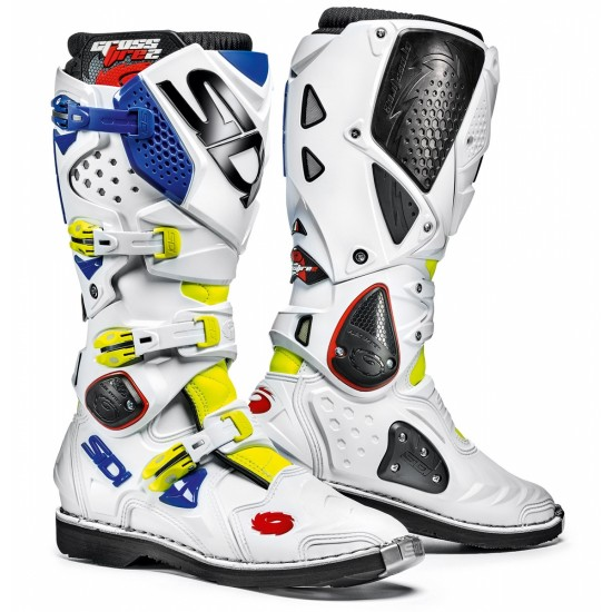 SIDI Crossfire 2 Offroad Boots - Yellow White Blue
