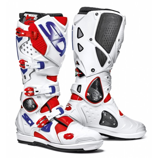 SIDI Crossfire 2 SRS Offroad Boots - Red White Blue
