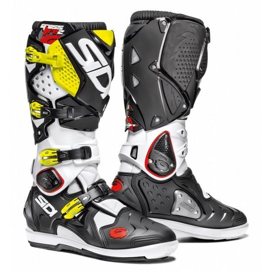 SIDI Crossfire 2 SRS Offroad Boots - White Black Yellow
