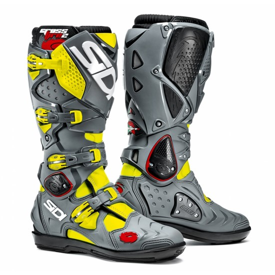 SIDI Crossfire 2 SRS Offroad Boots - Yellow Grey