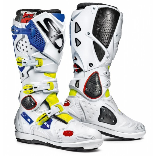 SIDI Crossfire 2 SRS Offroad Boots - Yellow White Blue