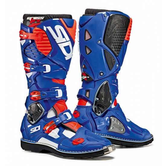 SIDI Crossfire 3 Offroad Boots - White Blue Red