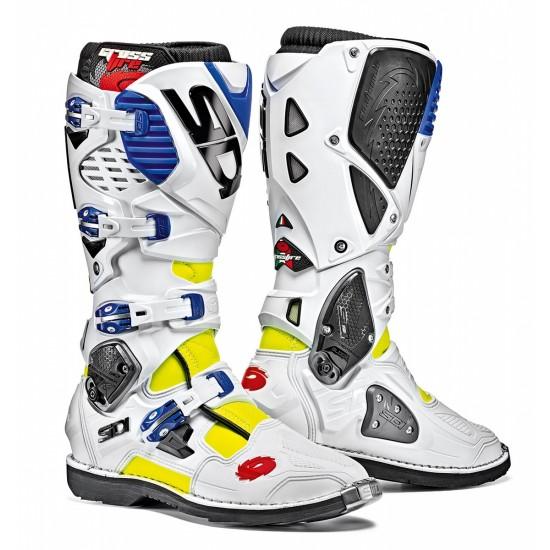 SIDI Crossfire 3 Offroad Boots - Yellow White Blue