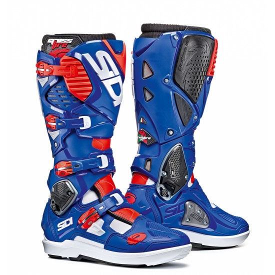 SIDI Crossfire 3 SRS Offroad Boots - White Blue Red
