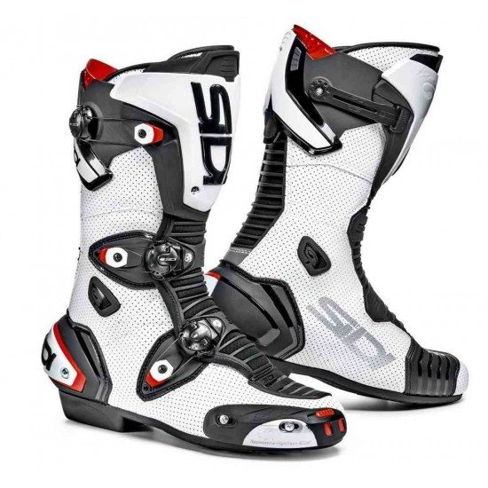 SIDI Mag-1 Air Racing Boots - White Black