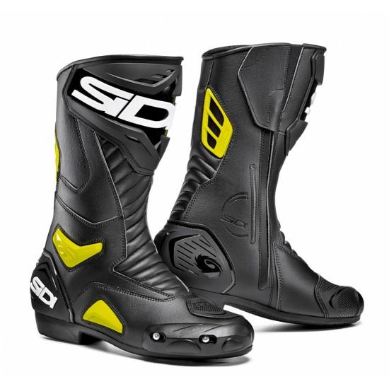 SIDI Performer Racing Boots - Black Yellow