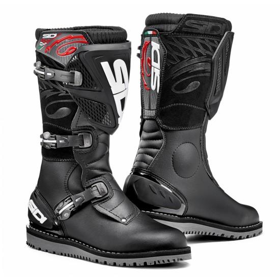 SIDI Trial Zero-1 Offroad Boots - Black Black