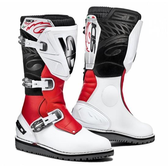 SIDI Trial Zero-1 Offroad Boots - White Red