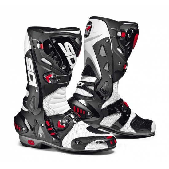 SIDI Vortice Air Racing Boots - White Black