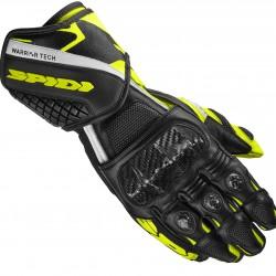 Spidi Leather Gloves - Carbo 5 Black Yellow