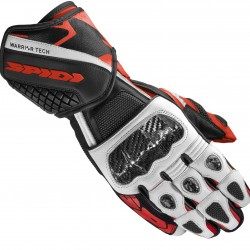 Spidi Leather Gloves - Carbo 5 Red